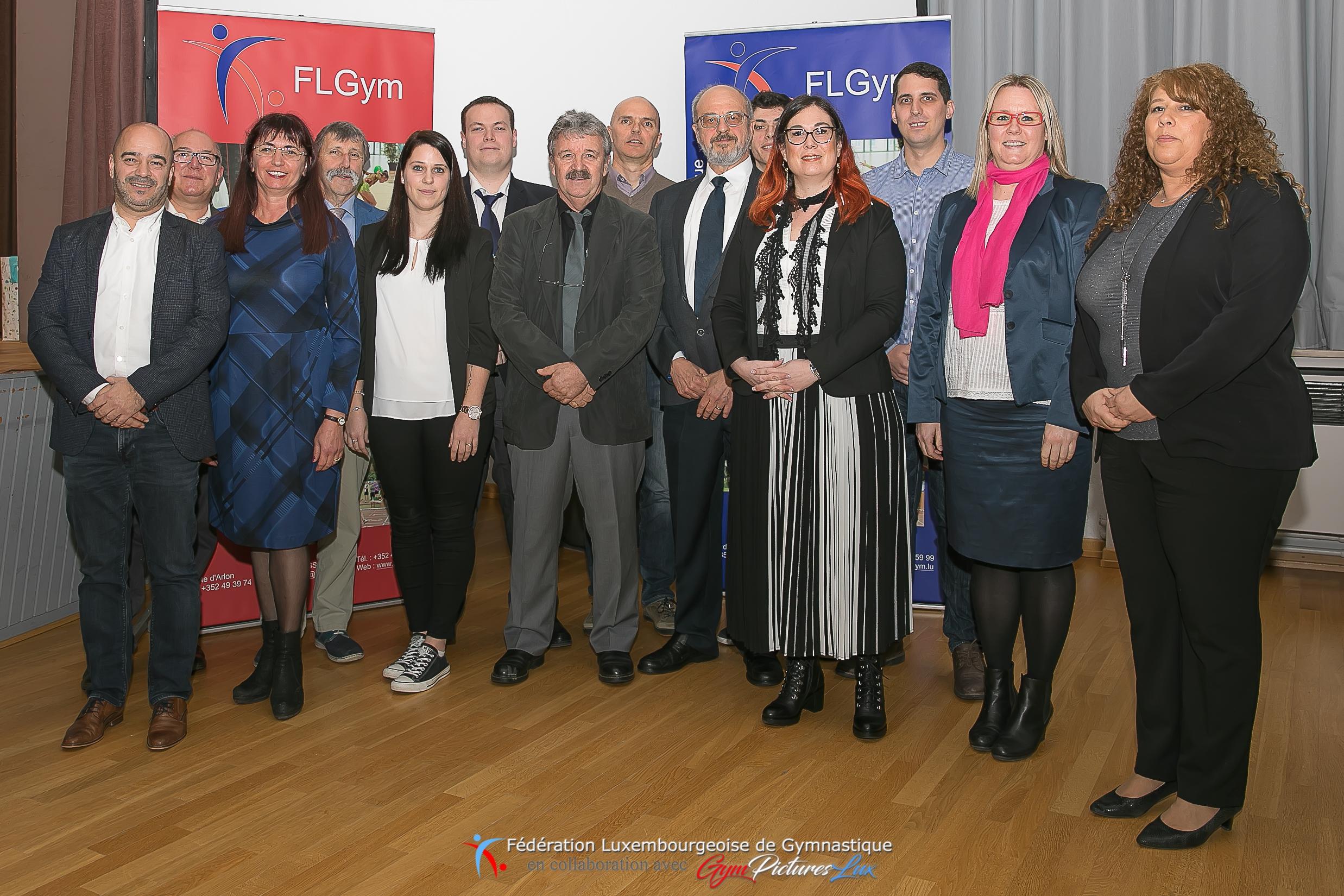 les membres du CA 2019 de la FLGym